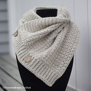 Comfy Square Buttoned Cowl